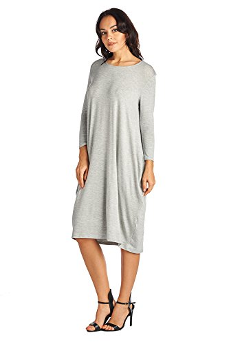 Various Heather Comfortable Women's Gray 82 Days Long Jersey Mid Styles Dresses 6ZHnfF