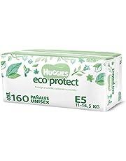 Huggies Eco Protect Pañal Desechable para bebé, Unisex, Etapa 5, Caja con 160 Pañales Desechables, Ideal para Bebés de 11 a 14.5 kilogramos