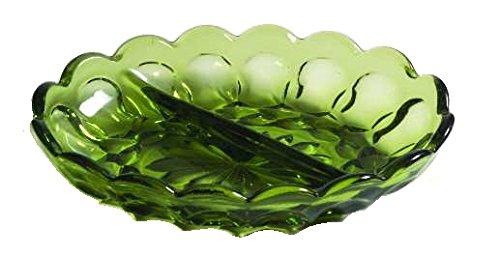2 Part Relish Dish (Anchor Hocking Fairfield Avocado Green Glass ( 2-Part Relish Dish ))