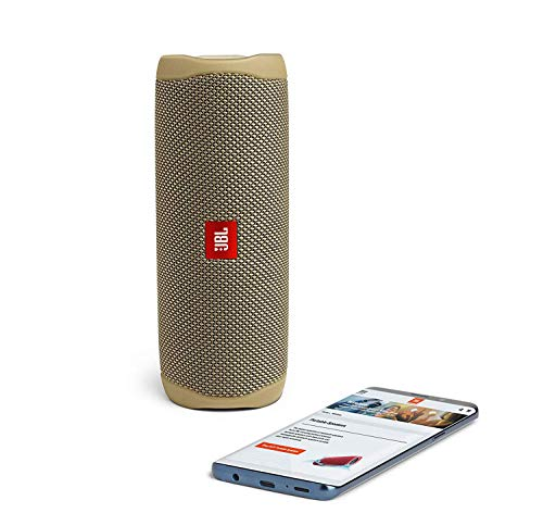 JBL Flip 5 Waterproof Portable Wireless Bluetooth Speaker Bundle with 2-Port USB Wall Charger - Sand