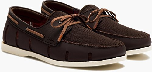 Swims Mens Boat Loafer Brown/Cream Size 10.5 by SWIMS (Image #1)