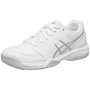ASICS Women's Gel-Dedicate 5 Tennis Shoe, White/Silver, 10.5 M US