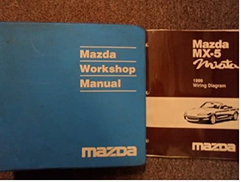 1999 mazda mx5 mx 5 miata service repair shop manual set factory oem rh amazon com 99 miata owners manual pdf 95 Miata