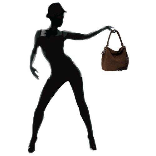 CASPAR Taschen & Accessoires, Borsa a spalla donna blu scuro