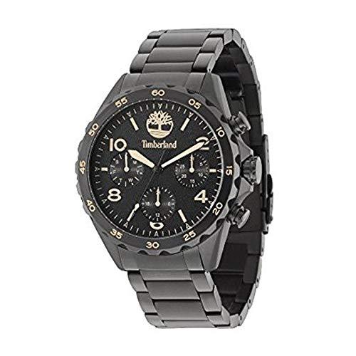 Timberland Reloj Analógico para Hombre de Cuarzo con Correa en Acero Inoxidable TBL15126JSB.02M: Amazon.es: Relojes