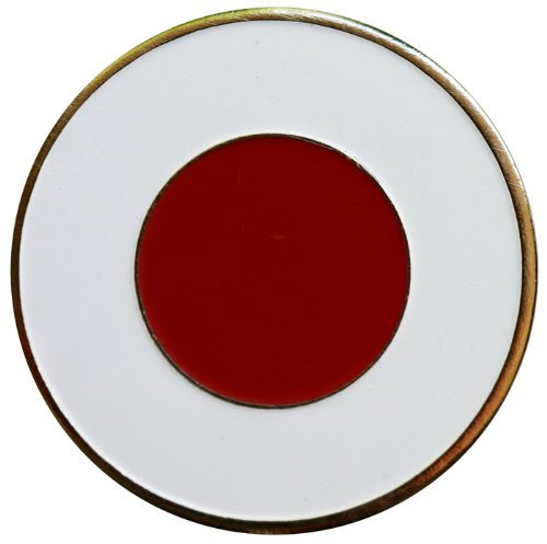 Japanese Flag Golf Ball Marker with Matching Hat Clip