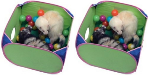 Marshall Pop-N-Play Ball Pit for Ferrets w/35 balls 2pk by Marshall