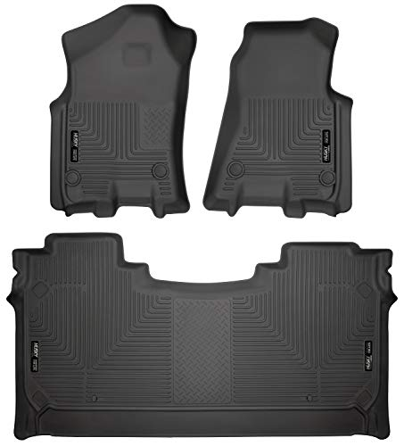 Husky Liners Fits 2019 Dodge Ram 1500 Crew Cab with factory storage box Weatherbeater Front & 2nd Seat Floor Mats