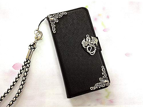 Dragon Removable Wallet Handmade Phone Wallet Case Cover for Iphone X Xs Xr Xs Max Iphone 8 7 6 6s Plus Samsung Galaxy S7 Edge Galaxy S8 S9 S10 Plus Note 8 Note 9 Mn0471