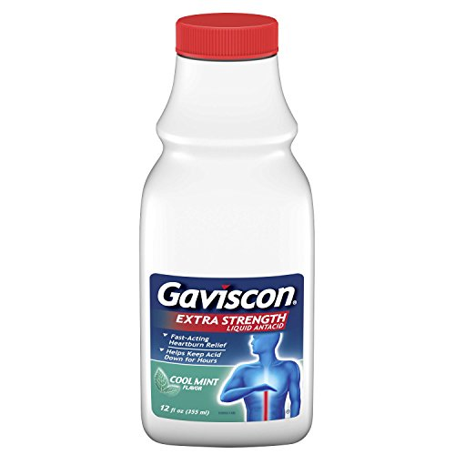 Gaviscon Liquid - Gaviscon Extra Strength Cool Mint Liquid Antacid for Fast-Acting Heartburn Relief, 12 ounce