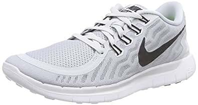 Nike Men's Free 5.0 Pr Platinum/Blk/Wlf Gry/Cl Gry Running Shoe 7.5 Men US