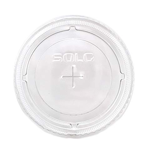 Solo 626TS PETE Flat Straw-Slot Cold Cup Lids, Fits 16-24oz (2 Pack (100 Per Pack))