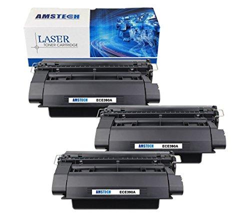 3 Pack Amstech 10,000 High Yield New Compatible HP 90A CE390A CE390 Black Toner Cartridge For HP LaserJet Enterprise M601 M602 M602n M602dn M603 M603n Printer