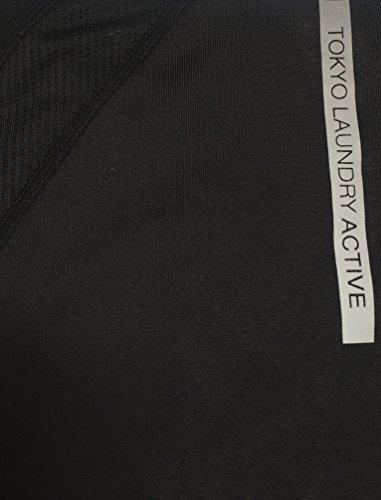 Tokyo Laundry - Camisa deportiva - camisa - Básico - Clásico - Manga corta - para mujer negro