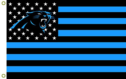 Carolina Panthers Flag - Carolina Panthers 3x5 Stars and Stripes Flag Panthernation