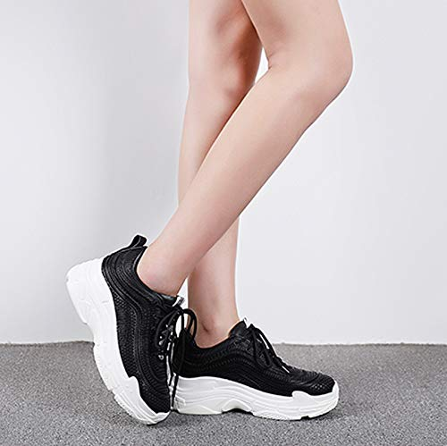 MagicXYY-sports schuhe schuhe schuhe Schuhe Casual Muffin Sports Wind Damenschuhe Atmungsaktive weiße Schuhe (Farbe   Schwarz größe   7UK=40EU) 4cdc90