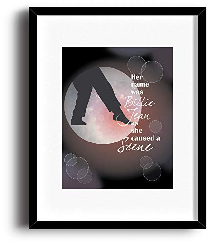 Billie Jean by Michael Jackson - Song Lyrics Art Decor Print - Pop Music Quote Wall Poster