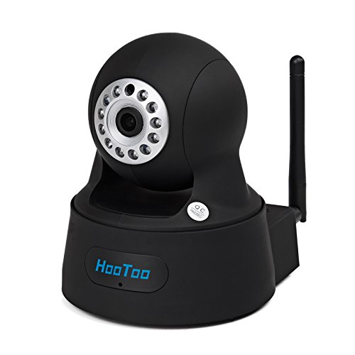HooToo® HT-IP211HDP Megapixel HD 1280 x 720p H.264 Wireless/Wired Pan/Tilt IP Camera with IR-Cut Filter, Night Vision & WPS - Black