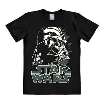5b073d972 ... Vader - Camiseta La Guerra de Las Galaxias - Star Wars - Camiseta con  Cuello Redondo Negro - Diseño Original con Licencia  Amazon.es  Ropa y  accesorios