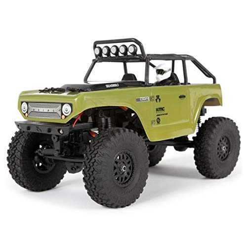 Axial 1/24 SCX24 Deadbolt 4WD Rock Crawler Brushed RTR, Green, AXI90081T2 ()