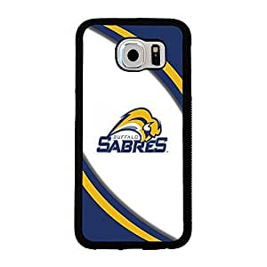 Samsung Galaxy S6 case Defender Buffalo Sabres NHL Hockey Team Logo Team Logo Sports for Men Design Hard Plastic Snap on Accessories Protective Case Cover for Samsung Galaxy S6
