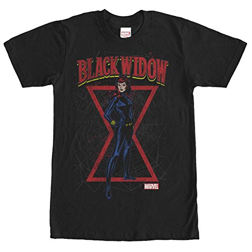 Black Widow Hourglass (Black Widow- Hourglass View T-Shirt Size)