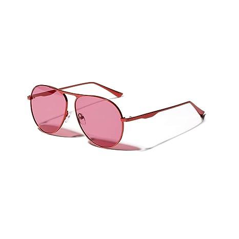 YFDXQY Gafas de Sol Rojas de Metal para Moda para Mujer ...