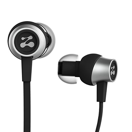 Zipbuds Slide Sport Earbuds with Mic (Most Durable, Tangle-Free, Workout in-Ear Headphones) - Guaranteed for Life - (Black)
