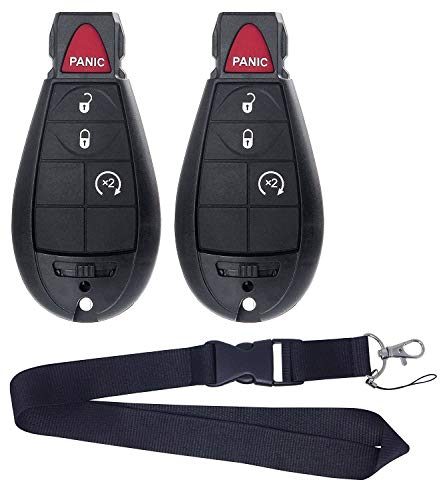 2011 Lanyard - Pair New Remote for Dodge RAM 1500 2500 3500 Pickup Remote Start KEYLESS Remote Key FOB FOBIK NO LANYARDs