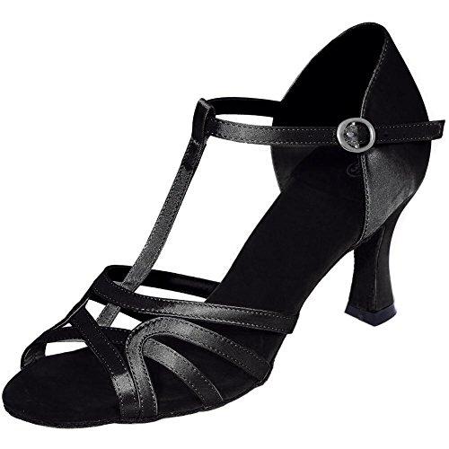 black Chaussures Espadrilles avec YC Satin Multi Personnalisé Danse Taille Ventre Fin Latine Moderne Femmes De L Danse Couleur Ut1wTqw