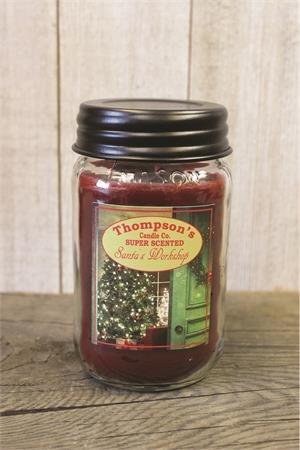 Thompson Candles Co. Santa's Workshop Mason Jar Candles