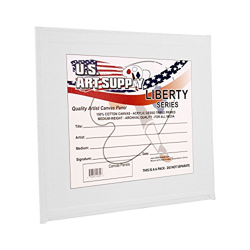 US Art Supply 4 X 4 inch Professional Artist Quality Acid Free Canvas Panel Boards 12-Pack (1 Full Case of 12 Single Canvas Panel Boards)