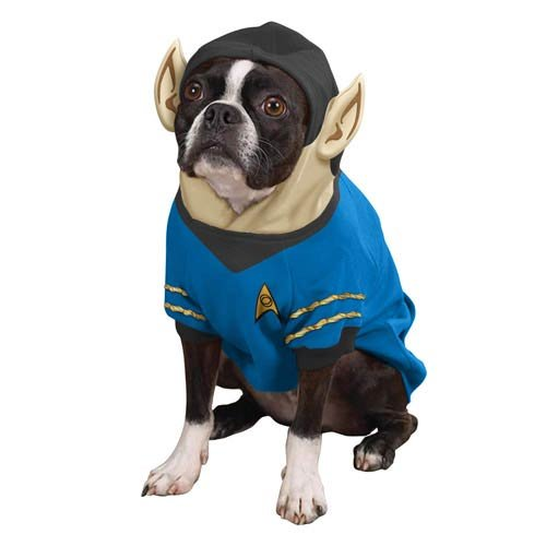 Star Trek Spock Dog Costume (Star Trek Spock Dog Costume Hoodie Pet X-Large)