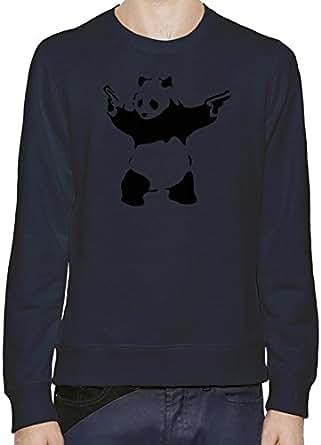 Banksy Panda Sudadera Hombres Mujeres XX-Large