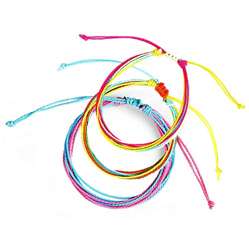 Monade Handmade Knots Rope Lucky Bracelets Set for Men Women Adjustable Braided Friendship Bracelets ()