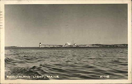 (Ram Island Light Portland, Maine Original Vintage Postcard)