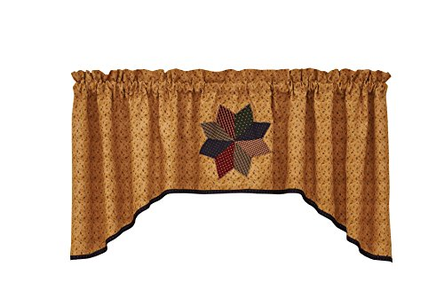 (Park Designs Montclair Gold Lined Jabot Valance 72