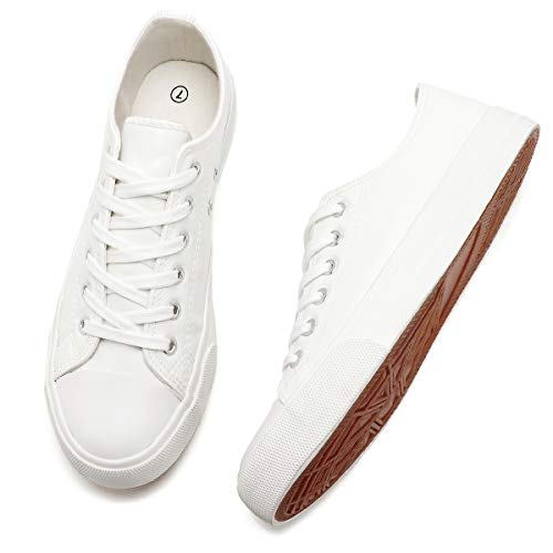Adokoo Women's Fashion Sneakers PU Leather Casual Shoes