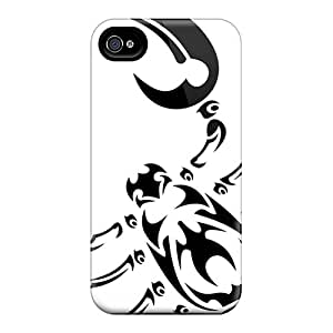 Defender Case With Nice Appearance (tribal Scorpion) For Iphone 4/4s