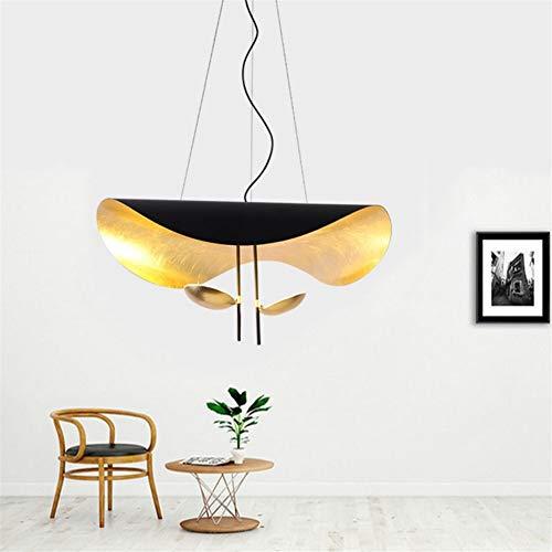 Pendant Lights Nordic Simple Chandelier Restaurant, Living Room, Creative Lotus Leaf, Cafe, Cowboy Hat Lighting Lamp LED 15W (Size : 80cm)