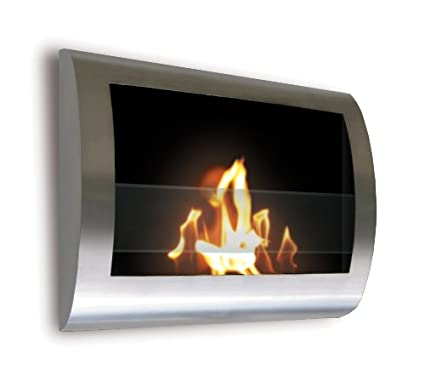 amazon com anywhere fireplace chelsea stainless steel wall mount rh amazon com