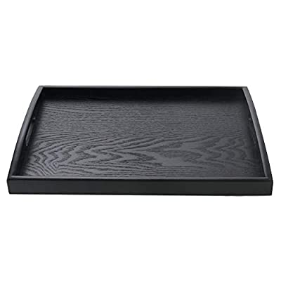 SILILUN Wooden Tray Rectangular Serving Tray Breakfast Serving Tray Wood Display Stand Nature Manchurian Ash Wood Food Tray