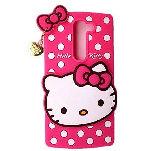 Qlez She Series 5D Kitty Cartoon Back Cover for Lenovo K8 Plus  Pink