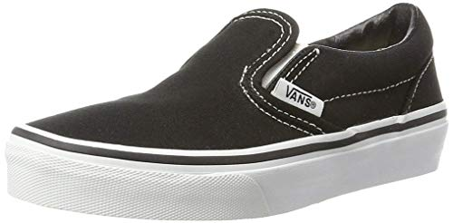 Vans Kids Classic Slip-On Black/True White 4 -