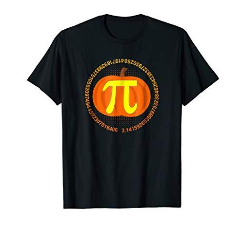 Funny Halloween and Thanksgiving Pumpkin Pi Math Shirt ()