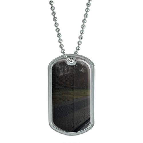 Graphics and More Vietnam Memorial Wall Washington DC Military Dog Tag ()