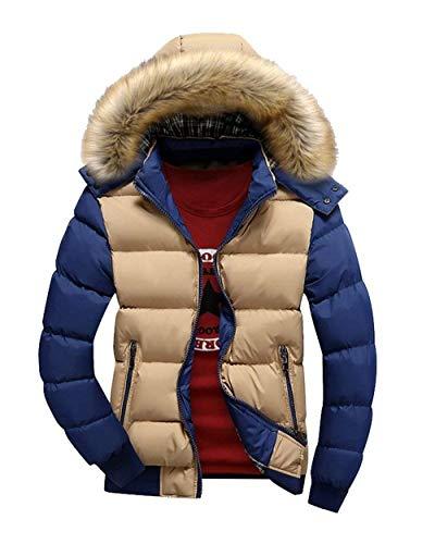 Cerniera Blau Da Parka Targogo Khaki Uomo Invernale Capispalla Giacca Vintage Cappuccio Abbigliamento Con 6q6FzB