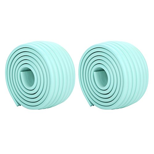 Super Baby Corner Protector Collision Cushions & Edge Guard Home Safety Bumper for Elderly & Kid Protection Protect 13ft Edge Guard - Bright Turquoise by Daptsy