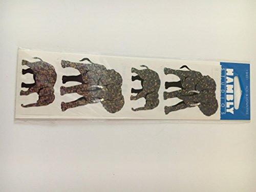 Hambly Studios - Hambly Studios Elephant and Baby Sparkly Scrapbooking Stickers