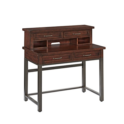 Home Styles Model 5411-162 Cabin Creek Student Desk and Hutch, Heavily Distressed Multi-Step Chestnut ()